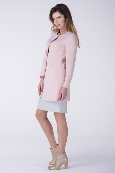 Short coat powder pink with snaps