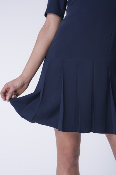 Short navy blue dress