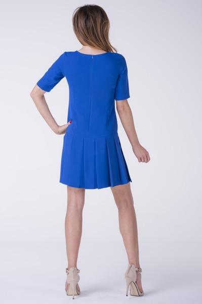 Krótka sukienka chabrowa